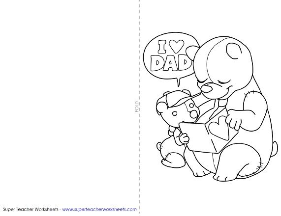 Here is a fun Father's Day card your kids can make for Dad