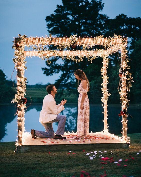25 des plus belles demandes de mariage d'été! #wedding #apply   – Emy tarik
