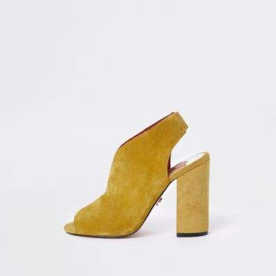 09d206ddc8a River Island Womens Yellow wide fit suede curve vamp shoe boots  100.00  http