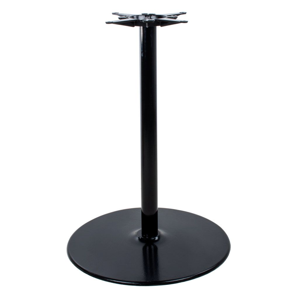 Lancaster Table Seating 17 Round Black 3 Standard Height Column Table Base Metal Table Base Lancaster Table Metal Table