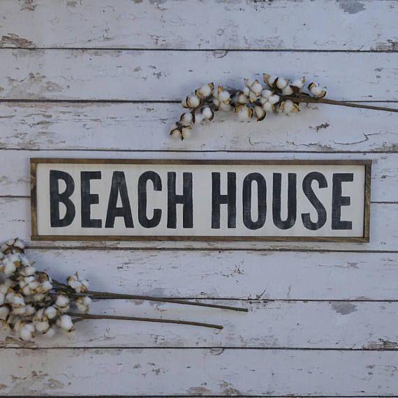 Beach House Sign Decor Coastal Signs Wooden Custom Wood Beachy Framed