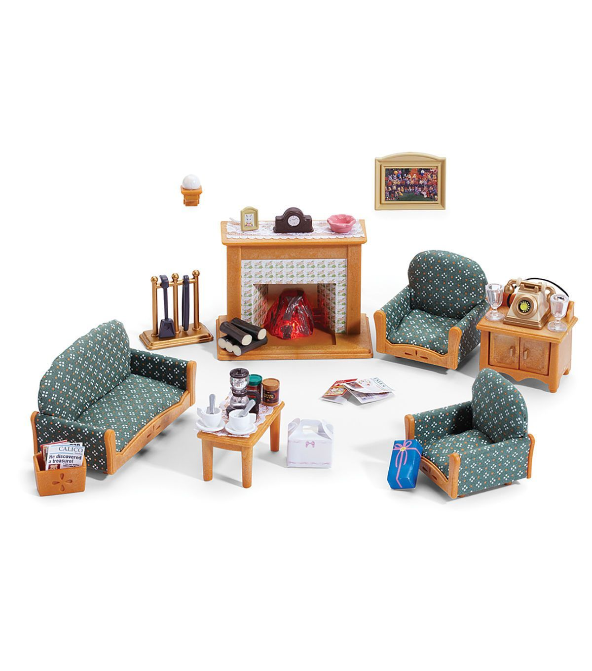 Calico Critters Calico Critters Deluxe Living Room Set - Kids ...