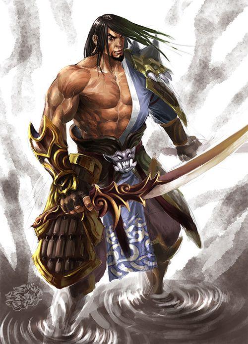 illustrazioni photoshop dedicate ai samurai