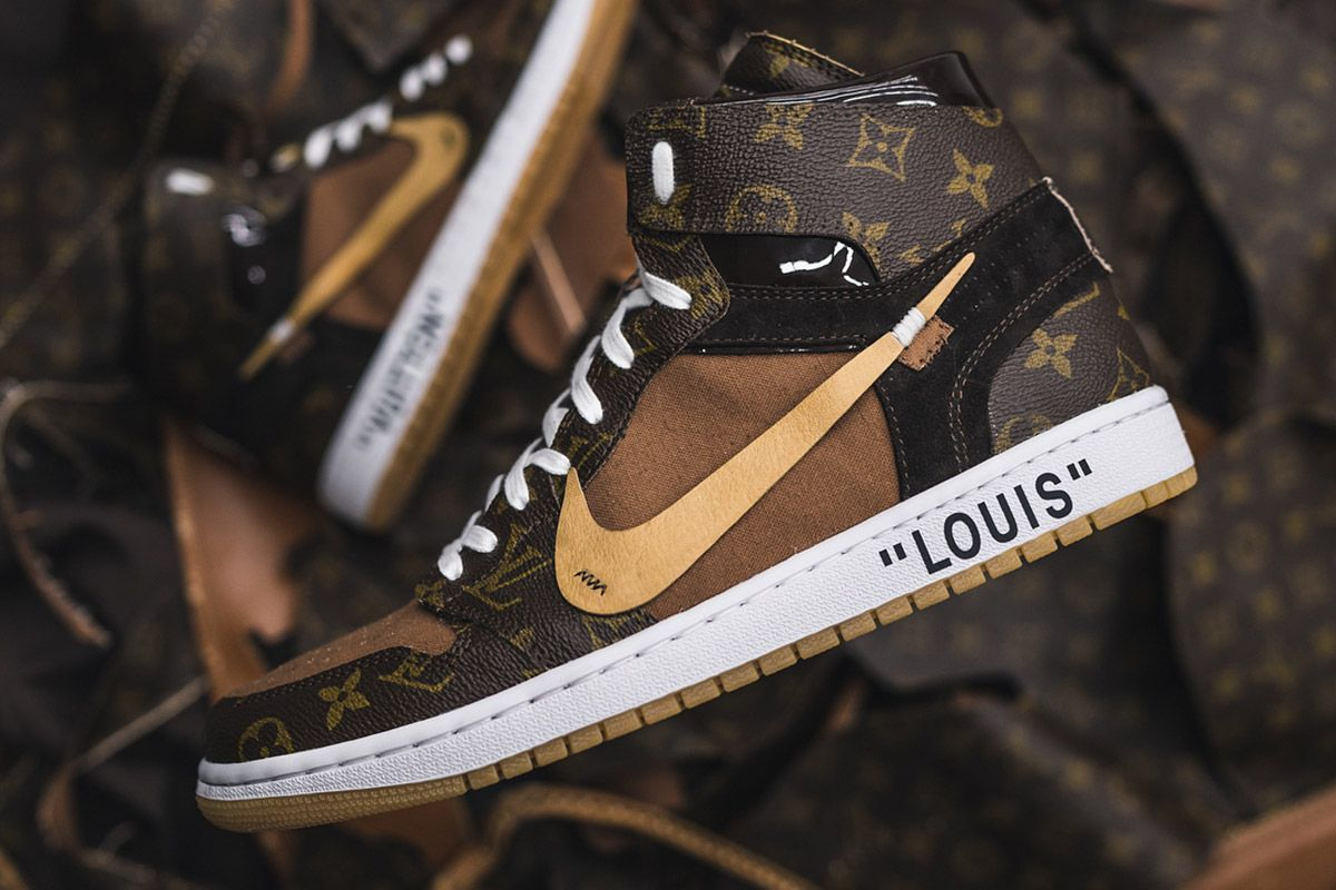 bfef7dee220 These Louis Vuitton OFF–WHITE x Nike Air Jordan 1s Are Next Level ...