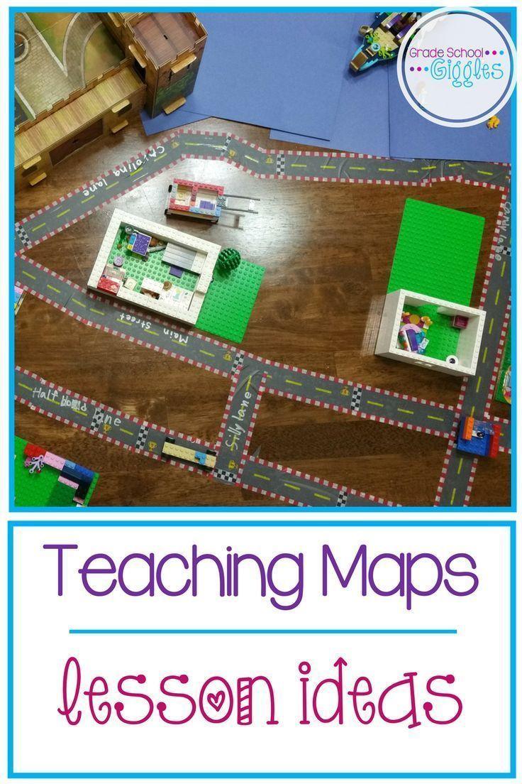 Teaching Maps: Lesson Plan Ideas – Grade School Giggles #teachingsocialstudie…