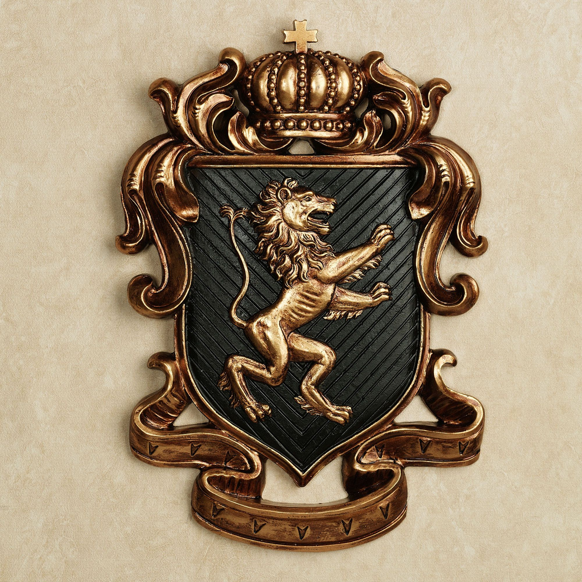 Lion Heart Coat Of Arms Wall Plaque