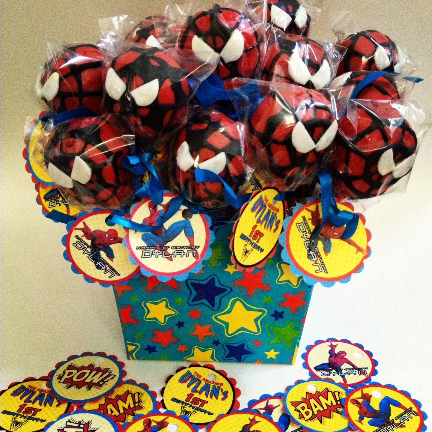 Spiderman Cakepops