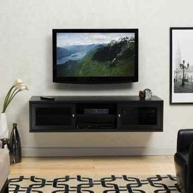 10 Diy Doable Projects For Apartment Renters Wall Mounted Tv Cabinet Wall Mounted Media Console Wall Mounted Tv