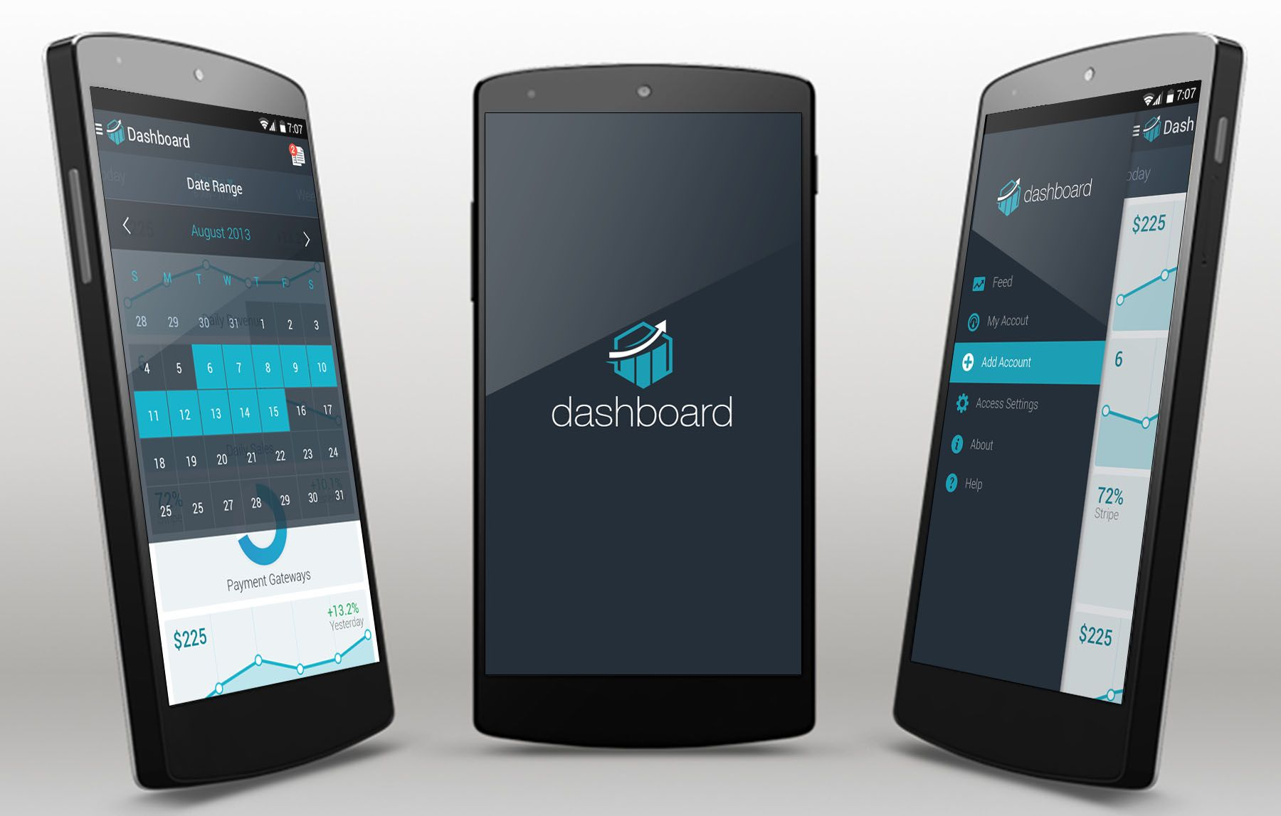 Dashboard android app template app template android