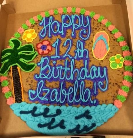 Tropical Cookie Cake Jowitasdesigns Cookiecakes Cookiecake Cookies Yummy