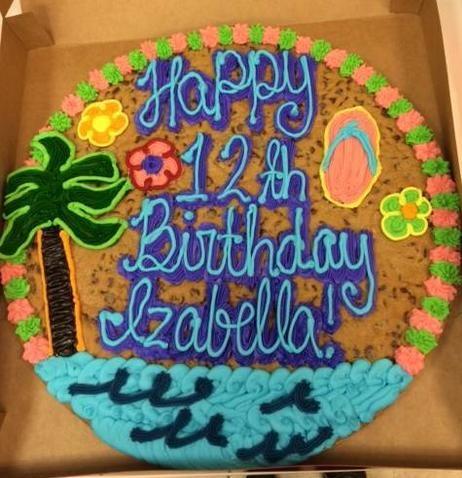 Super Tropical Cookie Cake Jowitasdesigns Cookiecakes Cookiecake Funny Birthday Cards Online Alyptdamsfinfo