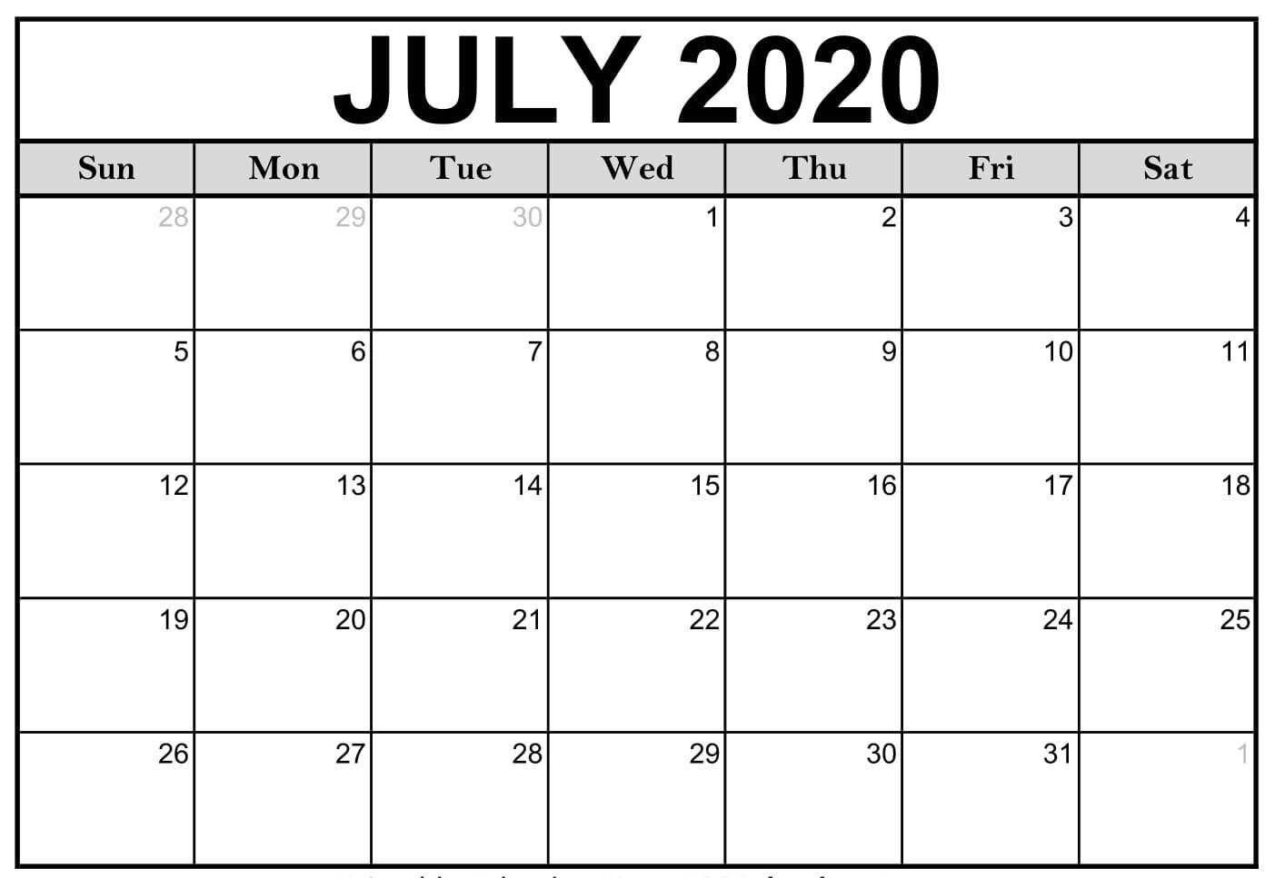 Latest Pictures 2020 Calendar July Concepts Exactly How Do You
