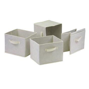 "Winsome Capri Foldable Fabric Baskets. Dimensions: 9"" H x 10.97"" W x 10.06"" D. $26.25."