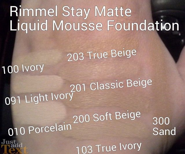 Rimmel Stay Matte Not Flat Liquid Mousse Foundation Review & Swatches | try true ivory, soft beige, classic beige (nope)