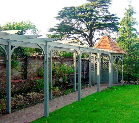 Shingle Garden Designs: Gazebo Stained With Cedar Shingle Roof
