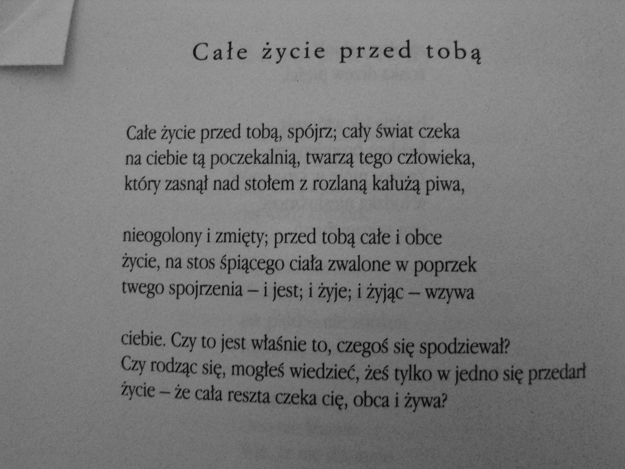 Stanisław Barańczak Poetry Quotes Poems Poetry