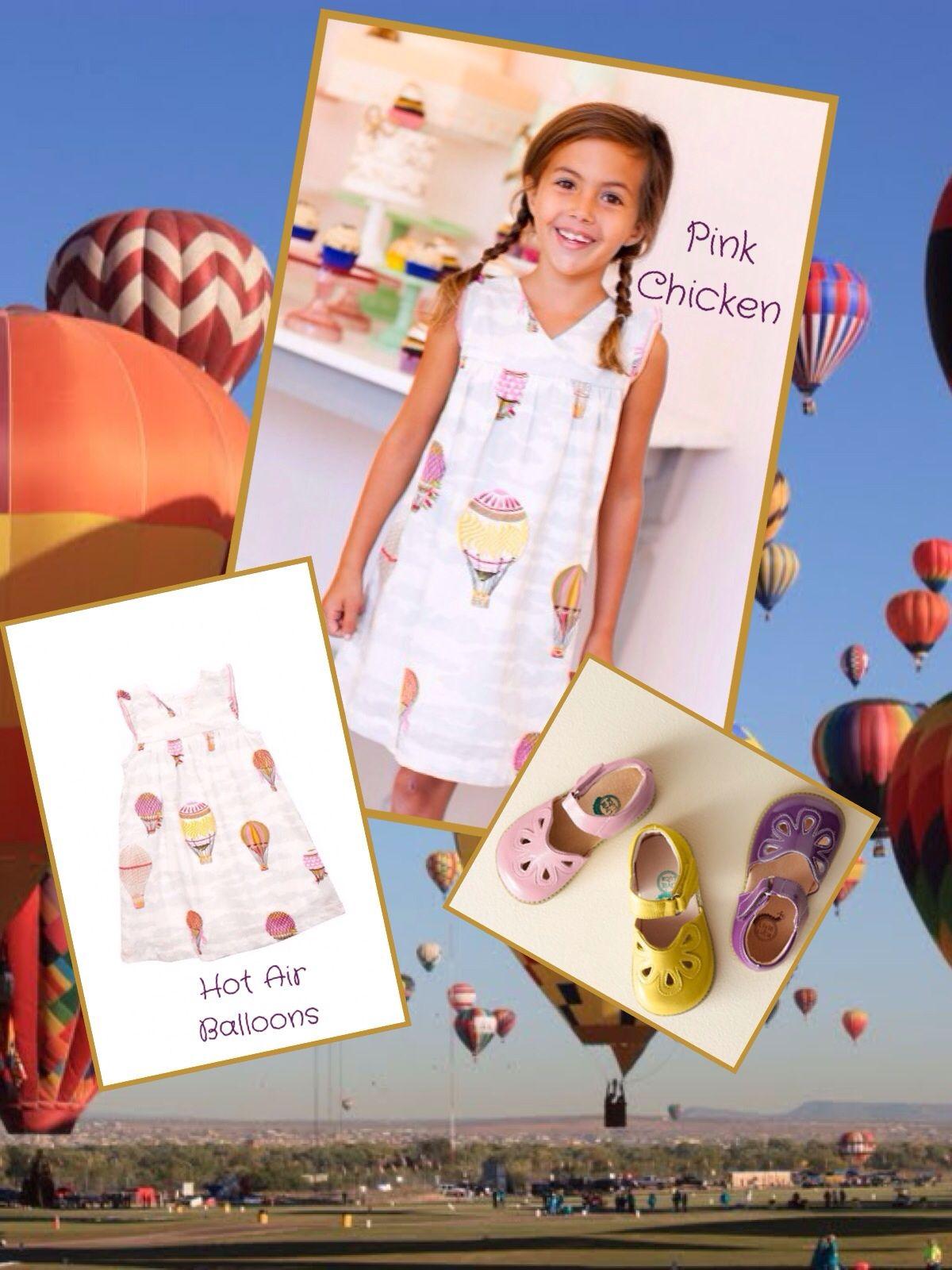Pink Chicken Hot Air Balloon Sun Dress and Livie and Luca Petal Sandals