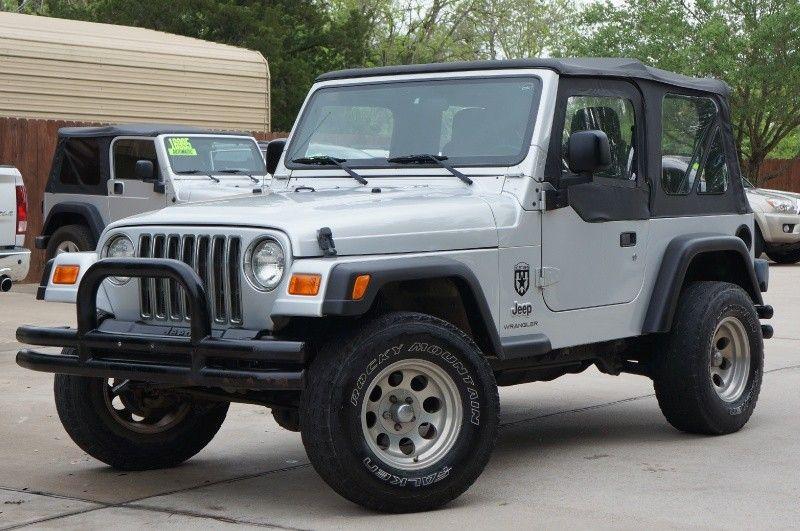 2003 Silver Jeep Wrangler 126k Miles Soft Top W Half Doors 5