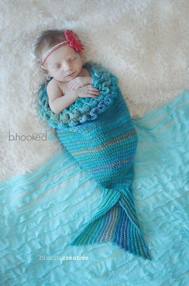 Mystick Mermaid Cocoon - Free Crochet Pattern | Häkelanleitung ...