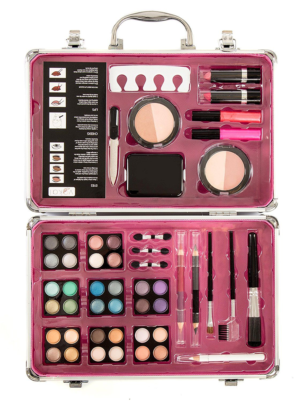 "Vokai Makeup Kit Gift Set â"" 55 Piece 32 Eye Shadows, 1"