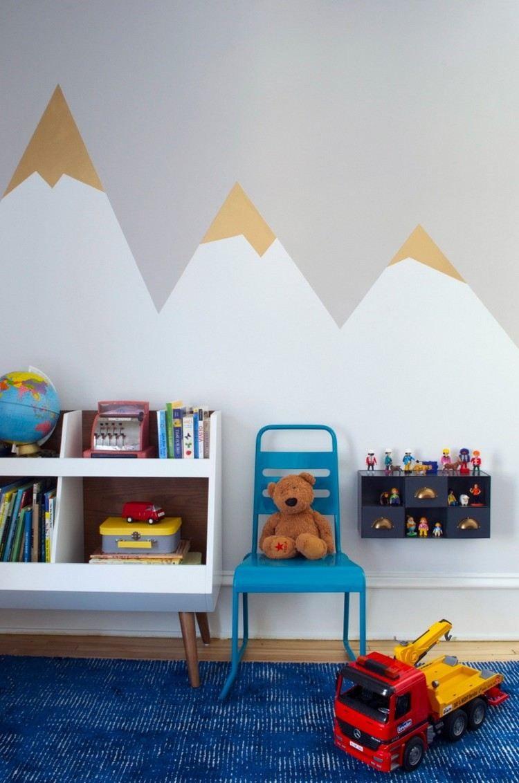 Charmant Wandgestaltung Mit Drei Farben