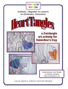 HeartTangles - A Zentangle Art Lesson for Valentine's Day Freebie!