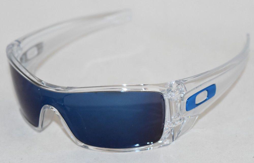 85dfedfe39 eBay  Sponsored NEW OAKLEY BATWOLF OO9101-07 POLISHED CLEAR W  ICE IRIDIUM  LENS