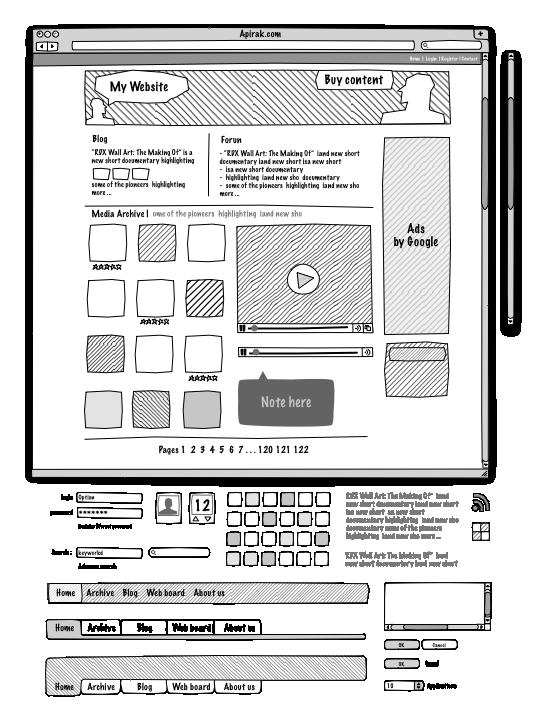 Web Sketch Interface V2 Graffletopia Web Layout Design Learning Graphic Design Minimal Web Design