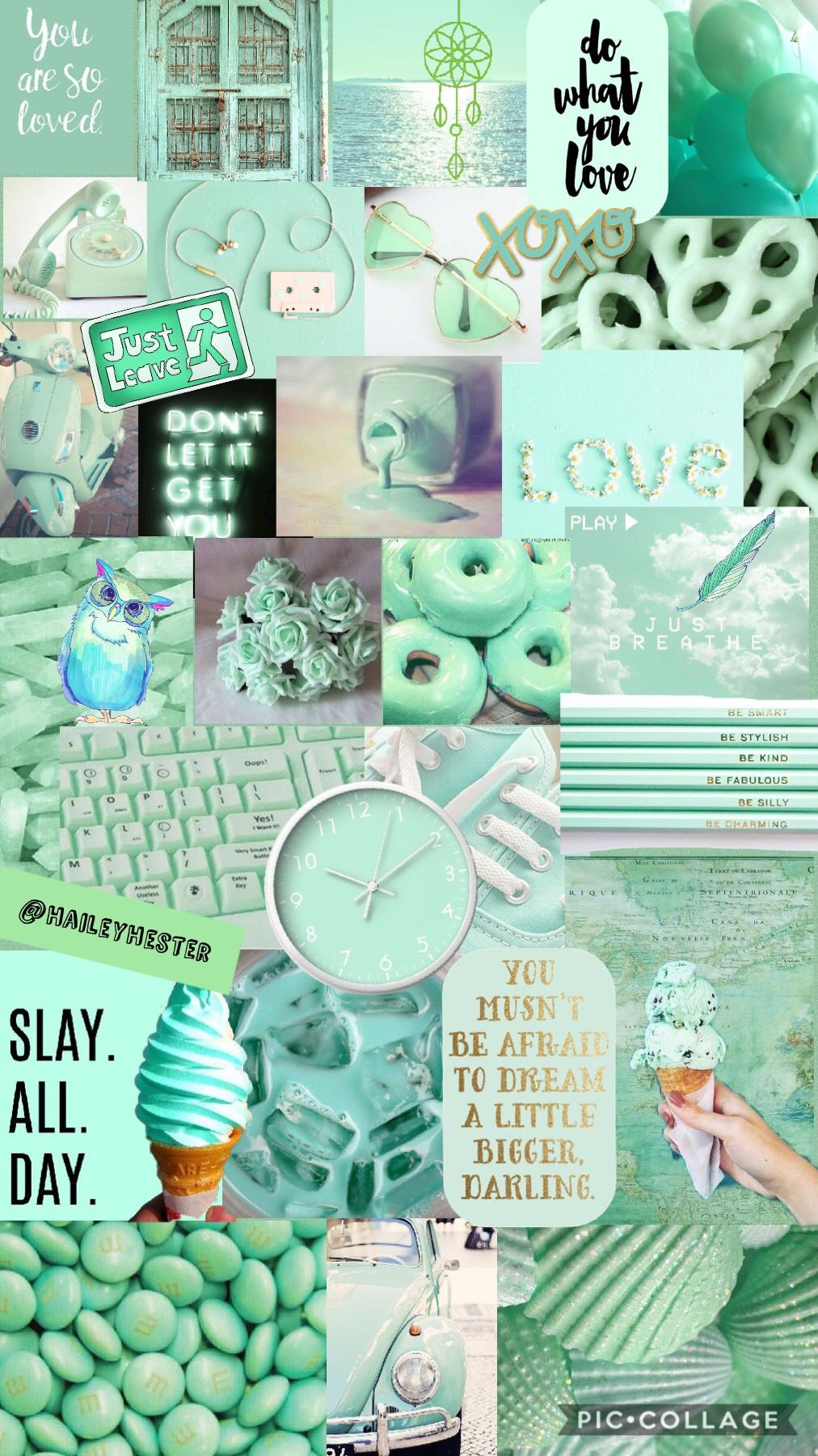 Mint Green Aesthetic Collage Iphone Wallpaper Tumblr Aesthetic Wallpaper Iphone Cute Aesthetic Iphone Wallpaper