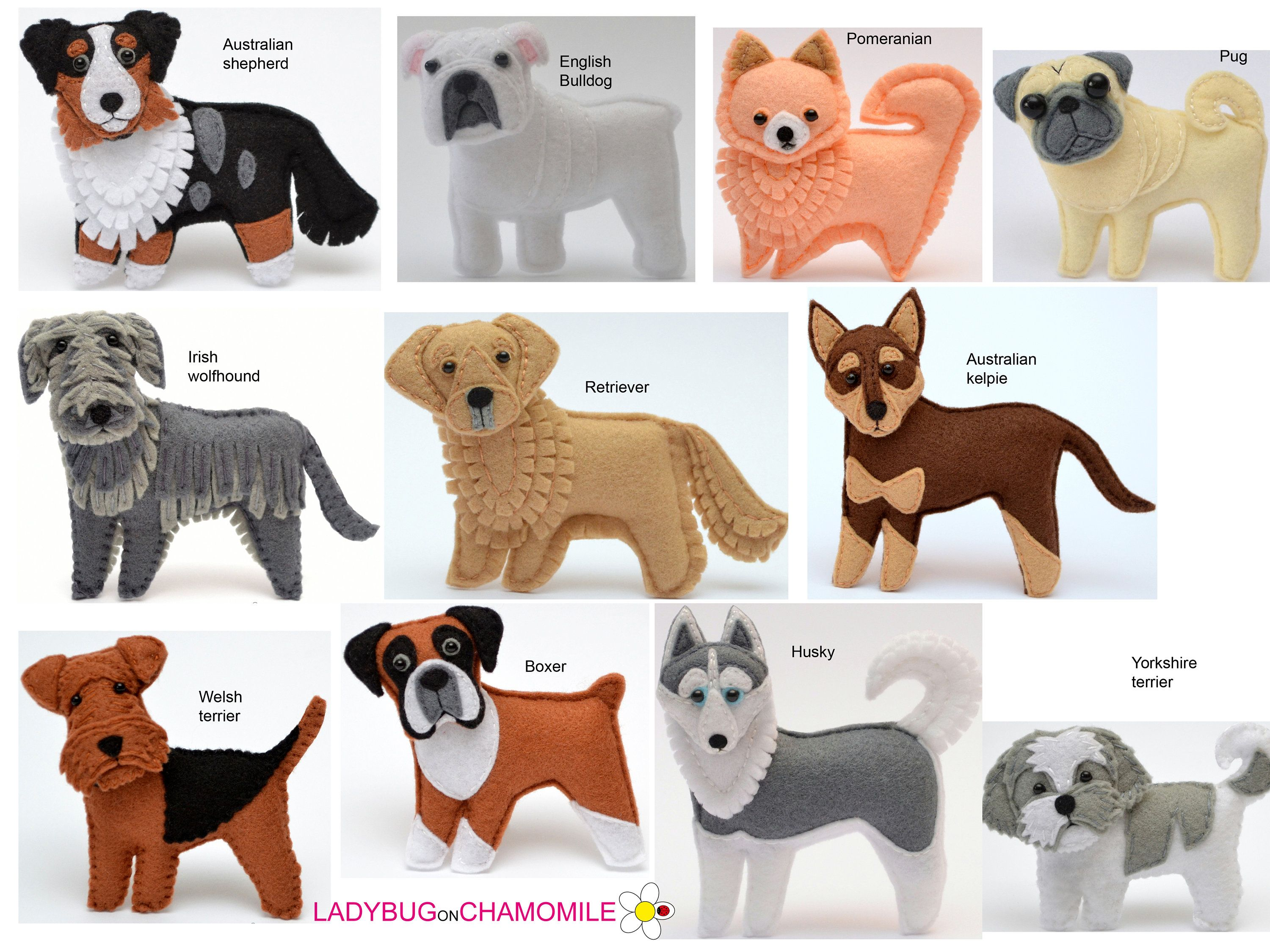 Dogs Different Kinds Ornaments Magnets Dog Toy Any Kind Of