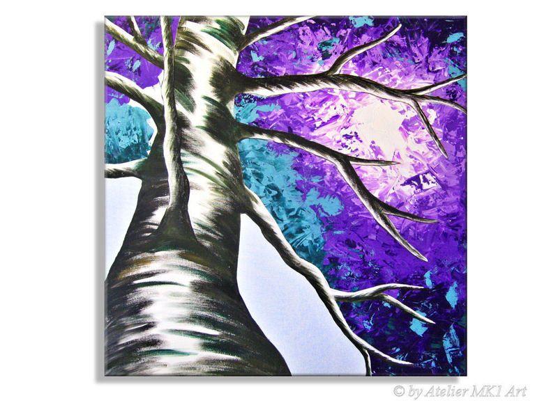 Acrylmalerei Gemalde Baum Lila Xxl Abstrakt Kunst Acryl Bild