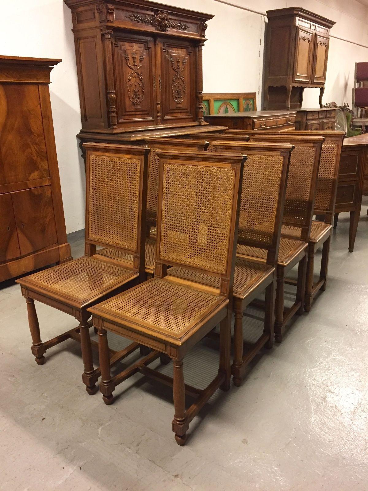 Suite de huit chaises de salle manger style henri ii 1900 for sale eur 880 00 see photos - Style chaises anciennes ...