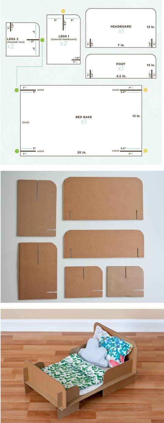 Cama de carton juguetes decoracion pinterest cart n for Como hacer una cama japonesa paso a paso