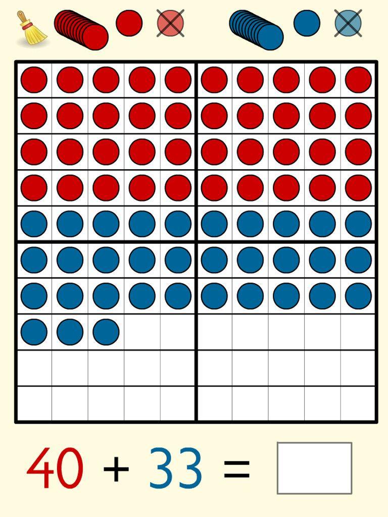 Hundreds Frame Math Apps Math Manipulatives Math Operations