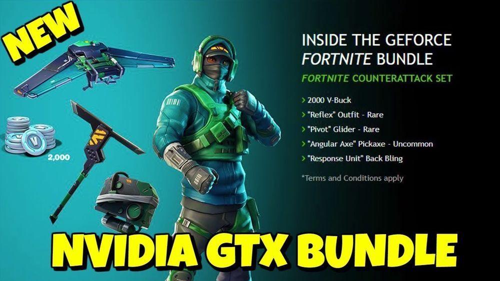 Fortnite Nvidia Limited Skin Counterattack Bundle Code Pc Ps4 Xbox