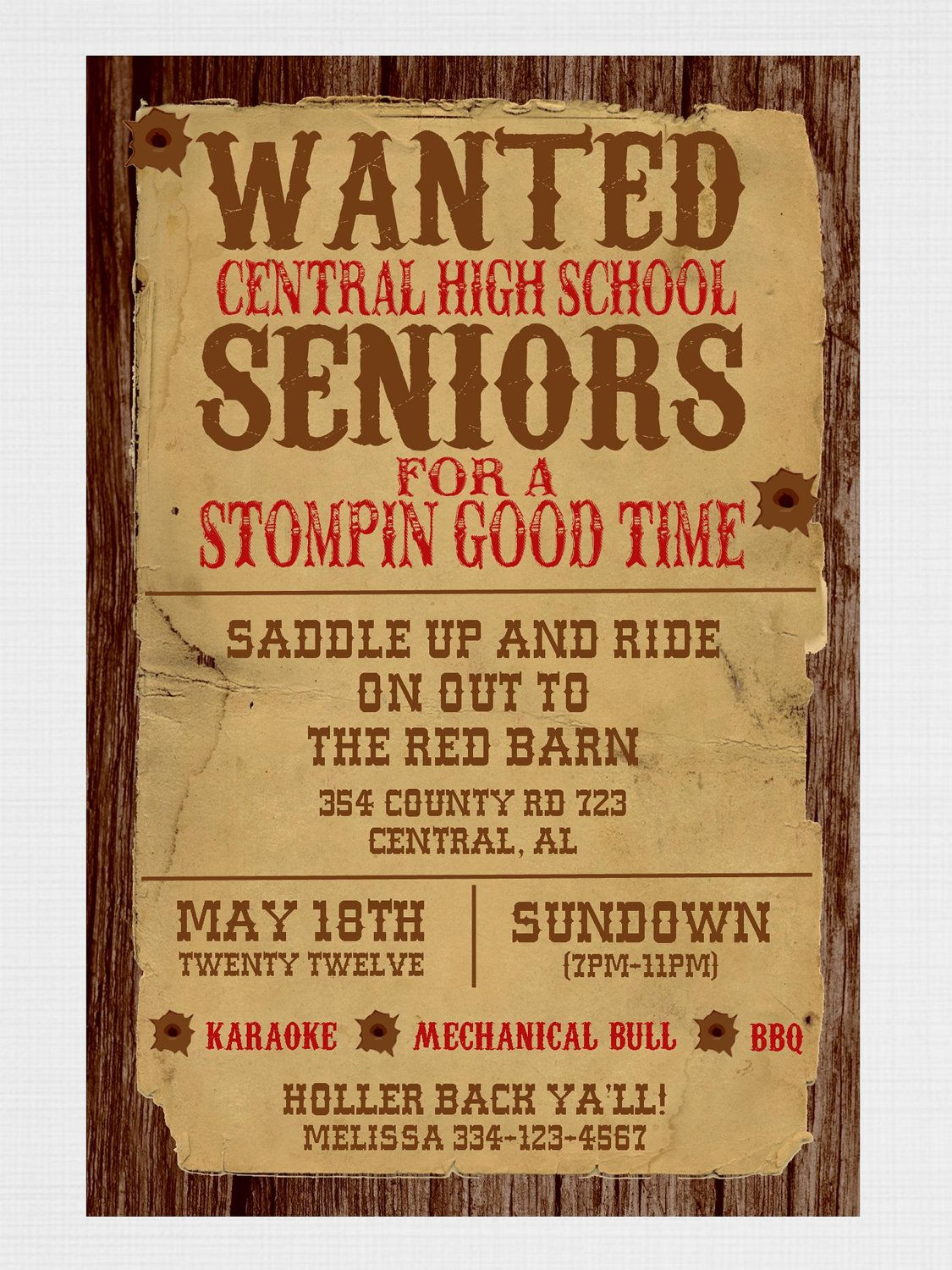 Love this Western themed party wording You could try picmonkeycom
