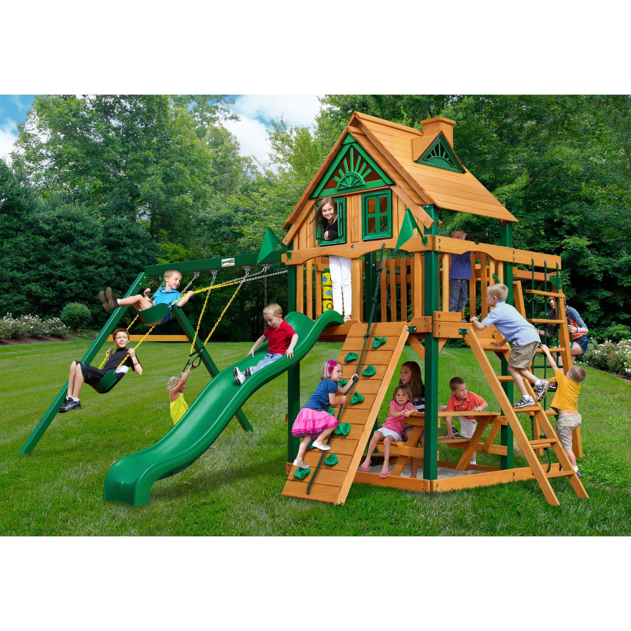 all rockin product discovery toys shipping wood sports adventure free overstock cedar set today somerset swing backyard
