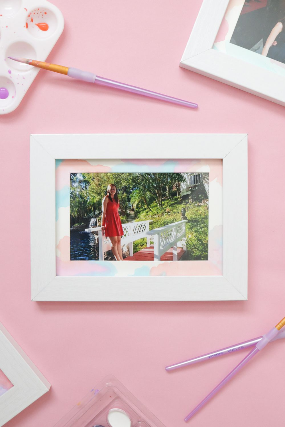 Wall Art: DIY Watercolor Photo Mats | Watercolor, Walls and Craft