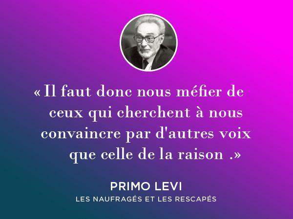 Litterature Citation De Primo Levi Citations Litteraires