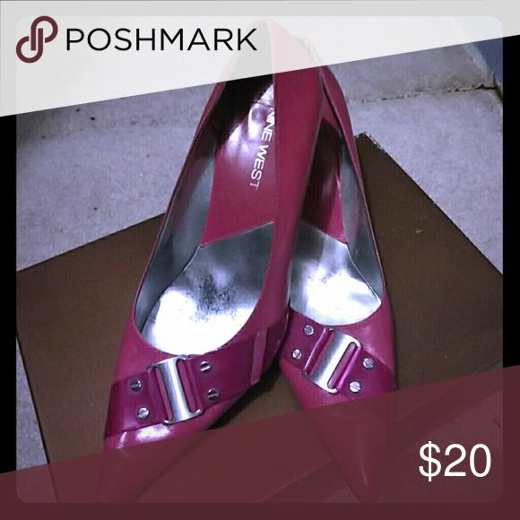 Nine West pink high heels Well loved heels. Unfortunately, they no longer fit. Nine West Shoes Heels