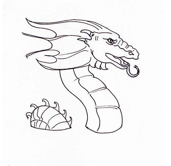 Free Coloring Pages Of Water Dragon Dragon Coloring Page