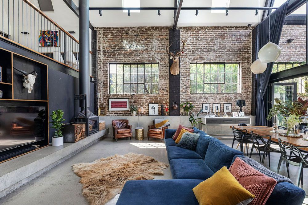 Awesome Loft In Former Warehouse Building In Sydney Foto Idei Dizajn In 2020 Loft Apartment Decorating Warehouse Living Converted Warehouse