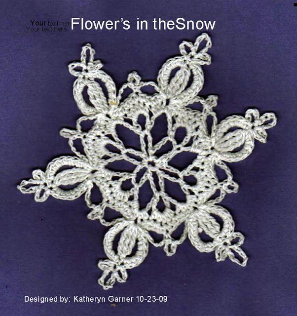 Free Crochet Flower in the Snow Snowflake Pattern | crochet ...