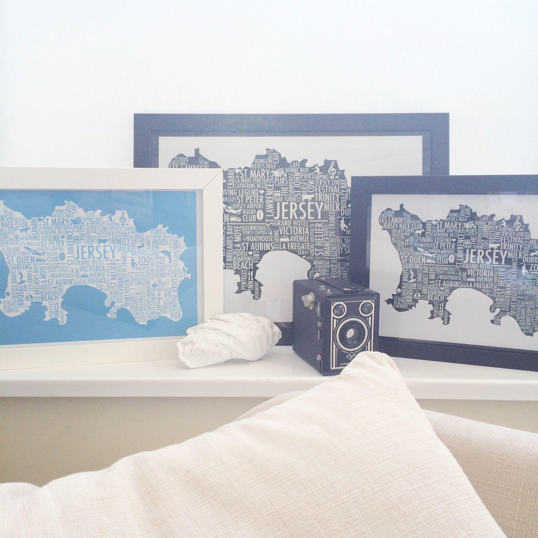 Jersey Typography Maps Available at: www.thememorymix.com #prints #jerseyci #thememorymix #maps #homedecor #decorideas #wallart #walldecor