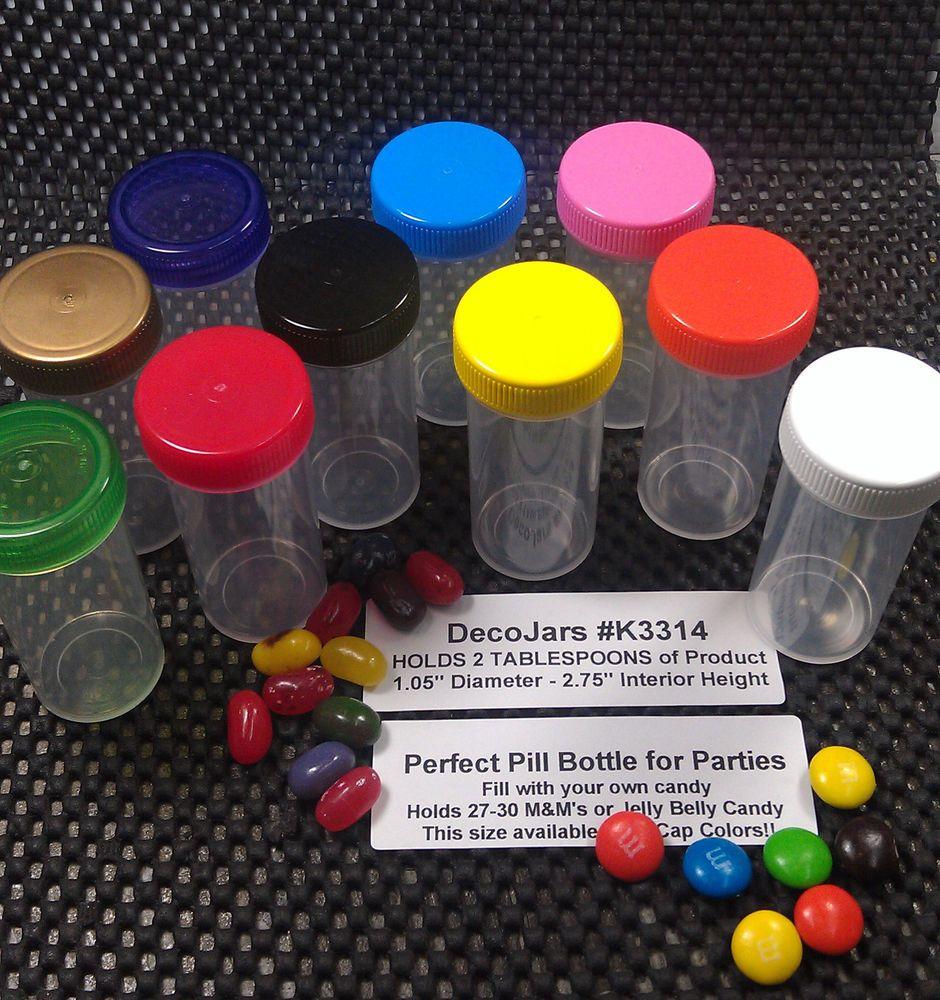100 pill party bottle 10x10 cap colors container vial prescription rh pinterest com