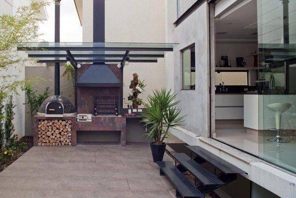 Patio asador barbacoas pinterest asador patios y for Asador en patio pequeno