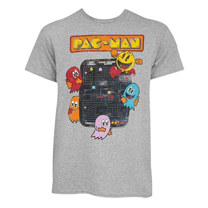 NEW Pacman Figure Arcade Machine Ghost Video Game Vintage T Shirt Men/'s Large