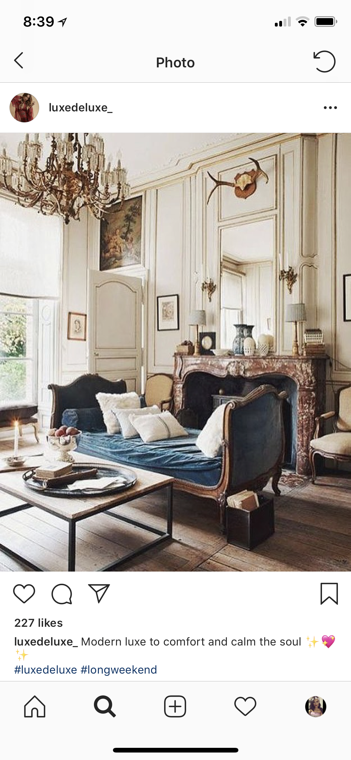 Vintage Furniture In Formal Living Room French Country
