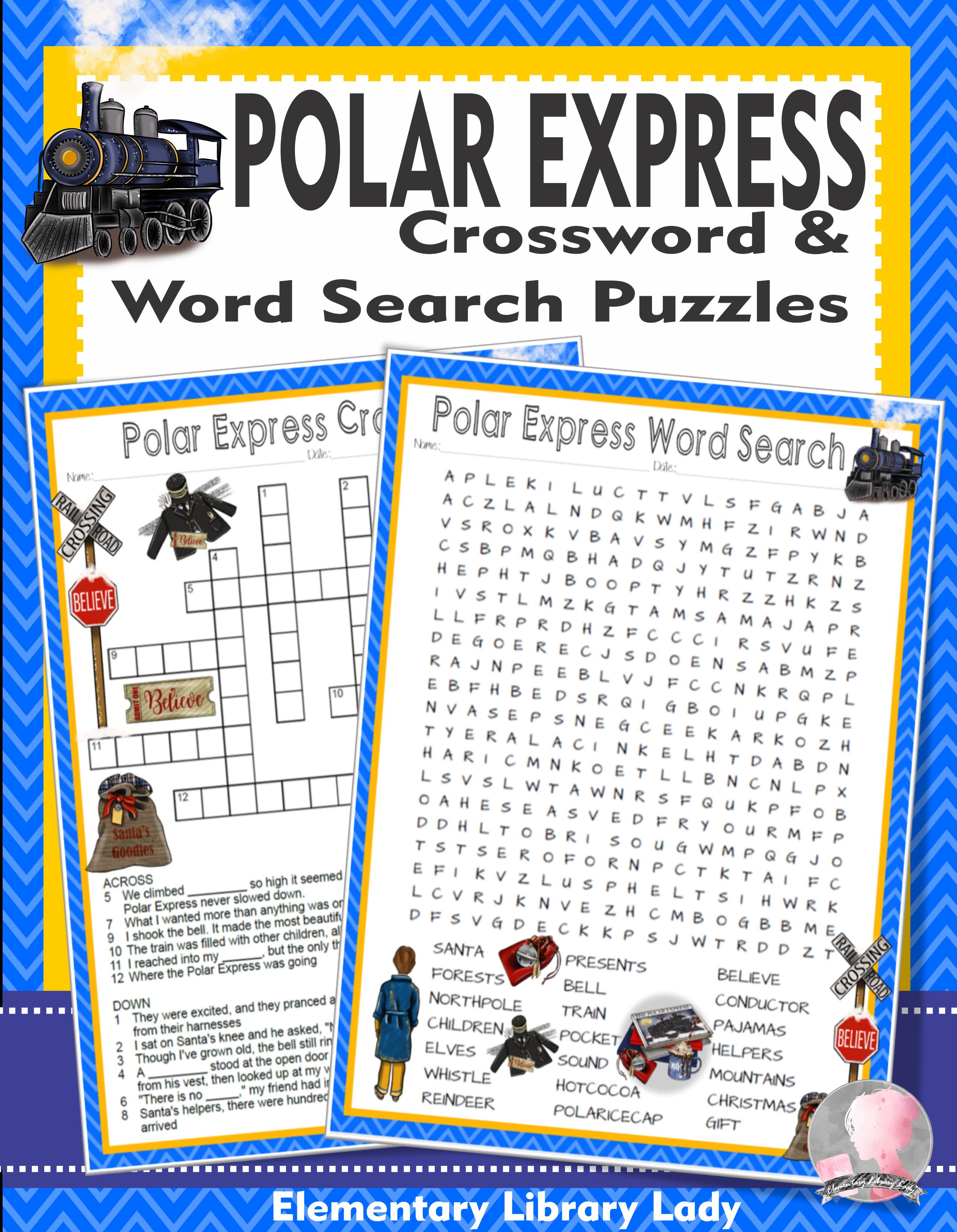Polar Express Activities Chris Van Allsburg Crossword