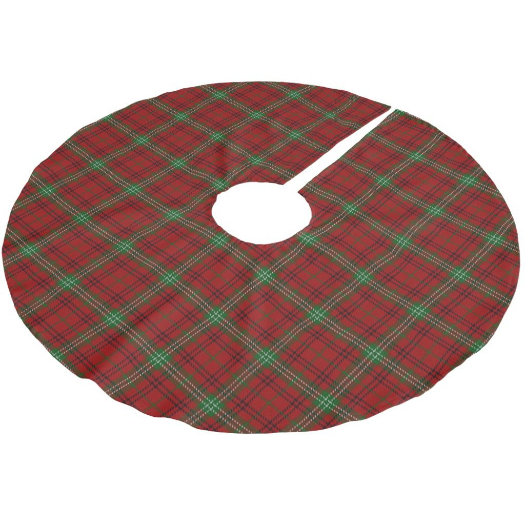 Christmas Tree Skirt featuring the tartan plaid of the great Scottish Clan Morrison.